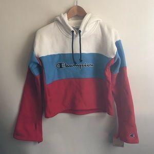 Champion Cropped Hoodie Reverse Weave Sweatshirt S